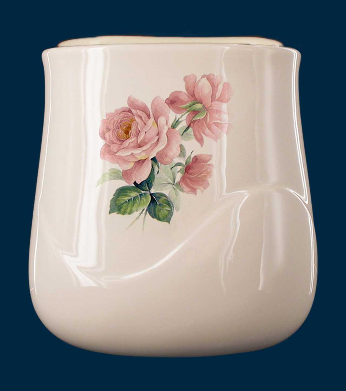 Vaschetta a parete realizzata in porcellana limonge. In dotazione contenitore in plastica per fiori e kit di viti in ottone per il montaggio. Decori indelebili prodotti artigianalmente e cotti al forno a 900 gradi.